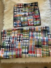 Pottery Barn Kids reversible madras quilt and sham full/queen