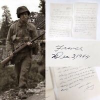 Rare WWII 1944 Battle of the Bulge Ardennes France US Soldier Letter Home Relic