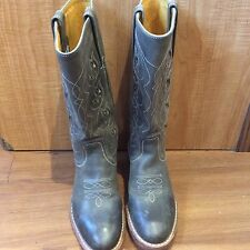 Frye Grey Leather Boots Size 5.5