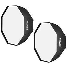 Neewer 2 Pack 47 inch Black Portable Octagonal Umbrella Softbox for Studio Flash