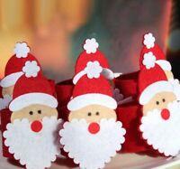 6Pcs  Christmas Individual Napkins Holder Napkins - Christmas Santa Claus Xmas