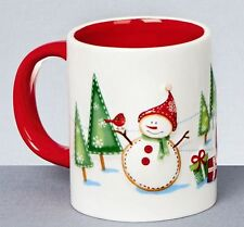 Christmas Tableware Ceramic Santa & Friends Set of Two Mugs NEW