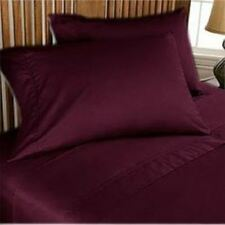 Wine Solid All Bedding Sets Items Choose Size & Item 1000 TC Egypt Cotton