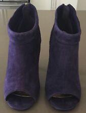 "Fab CORELLI Purple ""Pixie"" Suede Look Open Toe Ankle Booties Size 6"