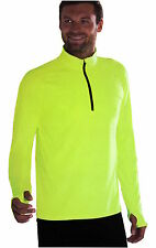 Funktionsshirt Herren langarm Laufshirt M,L,XL Neon gelb Langarmshirt