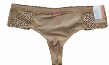 Womens Gilligan & O'Malley Thong Panty Underwear Buff Beige Sizes X-Small, Small