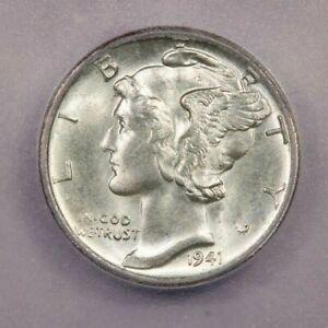 1941-P 1941 Mercury Dime 10c ICG MS65