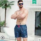 Men Camouflage Beach Surf Lining Thin Short Summer Sports Gym Loose Swim Trunks