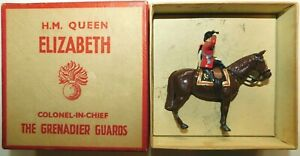 Old BRITAINS 1950s Lead, Queen Elizabeth On Brown Horse, 1 Piece Boxed Set #2065
