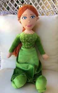 Shrek 4D PRINCESS FIONA Plush Doll Movieworld Dreamworks Green Dress EUC 40cm