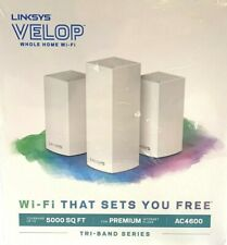 Linksys VELOP Mesh Whole Home Wifi System AC4600 Tri-Band - 3 Pack!!