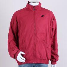 Vintage Nike Air Jordan Red Padded Zip Bomber Jacket Coat L XL 53