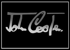 2x Mini John Cooper Lettrage Argent 100x42 mm Sticker Autocollant