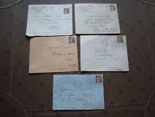 FRANCE - 5 enveloppes timbre yvert et tellier n° 284 (B15)