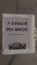 Fisher ph-w405 service manual original repair book stereo boombox radio tape