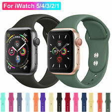 For Apple Watch SE iWatch Series 6 5 4 3 38/40/42/44 SILICONE Sports Strap Band