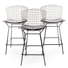 Authentic Knoll® Bertoia Counter Stool with Seat Pad Set of 3   DWR
