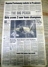 <1983 newspaper DEPUTED TESTIMONY WIN PREAKNESS STAKES Horse Racing TRIPLE CROWN