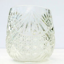 Vintage Retro Heavy Pressed Glass Vase