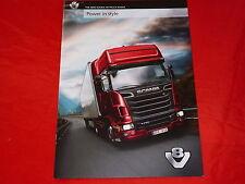 SCANIA R 500 - R 730 V8 Truck Range englischer Prospekt von 2010