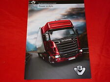 Scania R 500-R 730 v8 camioneta range inglesa folleto de 2010
