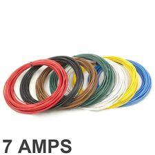 7 AMP Bewertete 0.35 mm 2 Dünnwandig Einadrig Kabel / Kabel - 7 Farbauswahl
