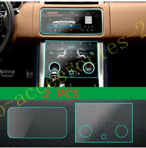 2x Navigation Display Control Screen Protector For Land Rover Range Rover 18-20