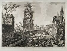 Piranesi Giovanni Battista Rom 1764 Via Appia Antichita d'Albano Original