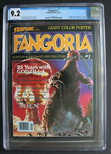 FANGORIA #1 Dr Who ALIEN Creature 1979 GODZILLA Battlestar Savini C.Lee CGC 9.2