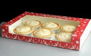 MINCE PIE BOXES flat rectangle festive CHRISTMAS Xmas Decoration CHOOSE QUANTITY