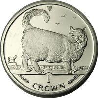 elf IOM Isle of Man 1 Crown 1998 Birman Cat