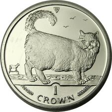 elf IOM Isle of Man 1 Crown 1998 Birman Cat