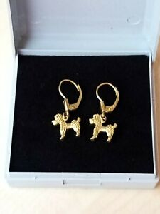 14ct rg Gold Dog Earrings Not 9ct Gold