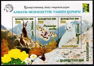 2018. Kazakhstan.  RCC Issue. Almaty State Nature Reserve. S/sheet. MNH