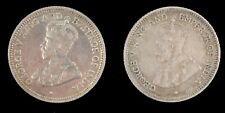 1936 1917 George V British Guiana Four Pence Silver Coins Circulated