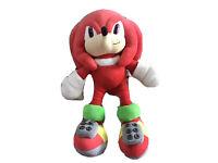 """Rare 14"""" Sega Sonic The Hedgehog Knuckles Soft Toy"""