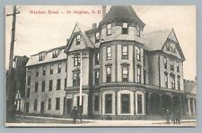 Windsor Hotel ST. STEPHEN New Brunswick—Antique John Wall—Victorian House 1910s