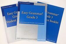 Easy Grammar Grade 3 Set - Teacher Edition, Student Workbook, and Test Booklet