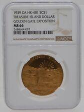 1939 Golden Gate Exposition Treasure Island So-Called Dollar HK-481 NGC MS66