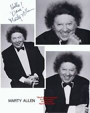 MARTY ALLEN   TV Actor Stand Up Comedian War Veteran  HAND SIGNED B/W Photo