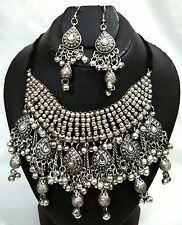 Nw Tribal Afghan Ethnic Kuchi Necklace Set Sari Belly Dance Jewelry Banjara Boho