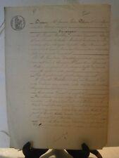 Acte notarié généralité 1842 vente d'une maison Chavigny Lorraine