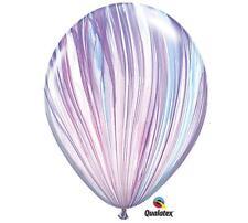 "10 Swirl AGATE Pink Purple Blue Balloons 11"" Latex Unicorn Tiedye FREE SHIP"