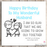 Funny Birthday Card for Husband from Wife Rude Birthday Card Humour Banter Joke