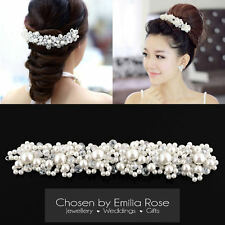 Princess Wedding Bridal Prom Party Pearl Crystal Flower Tiara Hair Band Headband