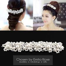 Bridesmaid Wedding Bridal Prom Pearl Crystal Flower Tiara Hair Band Headband