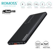 Romoss Slim 10000mAh Power Bank Portable USB-C External Battery Phone Charger