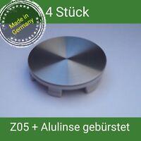 Z05 Nabenkappen + 60 mm Alu gebürstet Felgendeckel 60 mm Brock,RC, Platien 4 St