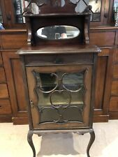 cupboard/Art Nouveau Style Wooden Cabinet With Mirror     -