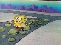 Nickelodeon TV SpongeBob Museum Animation Art Background Cel Set Up #U8